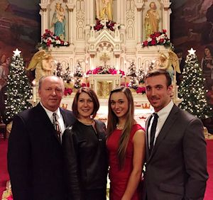 Zeljko and family at midnight mass